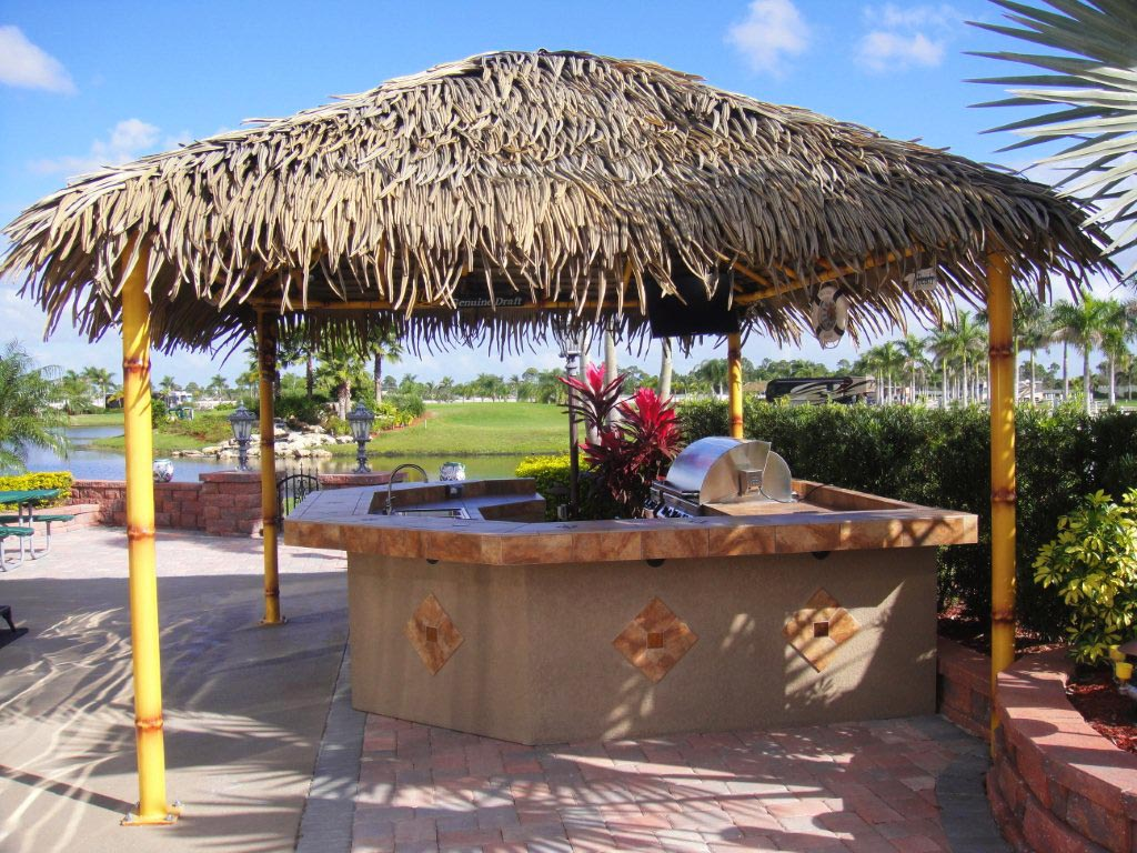 tiki huts paradise outdoor kitchens outdoor grills outdoor