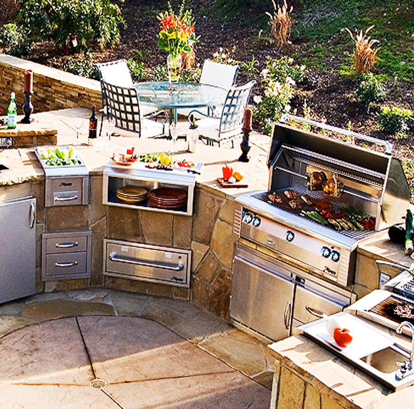 Gas Grills by Alfresco - Paradise Outdoor Kitchens ... on Built In Grill Backyard id=23203